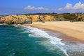 Portugal alentejo sines porto covo on portugal s atlantic west coast beautiful deserted pristine beach in the picturesque village Stock Images