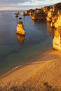 Portugal dona ana beach in lagos algarve during sunrise early the morning Stock Photos
