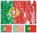 Portugal grunge flag set Stock Photo