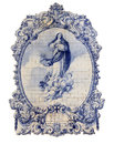 Portugal, Guimaraes - Typical old Portuguese blue and white ceramic tiles Royalty Free Stock Photo