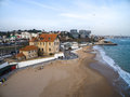 Portugal Lisbon's Coast Estoril beach and fortified mansion Royalty Free Stock Photo