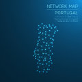 Portugal network map.