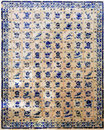Portugal Obidos; decoration on a wall, azulejos Royalty Free Stock Photo