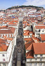 Portugal. Panorama of Lisbon Royalty Free Stock Photo