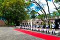 Portugal Presidential Honour Guard, Soldiers with Metal Blades, Armed Defence Royalty Free Stock Photo
