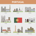 Portugal. Symbols of cities Royalty Free Stock Images