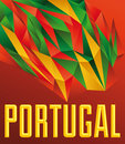 Portugal vector geometric background modern flag concept portuguese colors Royalty Free Stock Photography