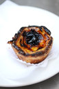 Portugese national pastries: Egg Custard Tart(Pastel de nata) Royalty Free Stock Photo