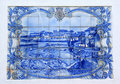 Portuguese azulejo of the town of Braganca Royalty Free Stock Photos