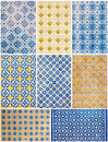 Portuguese azulejos from porto collage of Royalty Free Stock Photos