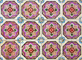 Portuguese azulejos tiles traditional painted Stock Photography