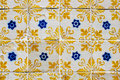 Portuguese azulejos traditional on a wall in porto Stock Image