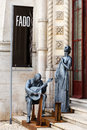 Portuguese fado monument lisbon portugal Royalty Free Stock Photo
