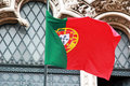 Portuguese flag photo of a photo taken in lisbon in april Royalty Free Stock Images
