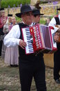 Portuguese folklore ranch accordionist of the grupo folclorico da casa do povo de alte a folkloric from alte algarve Royalty Free Stock Photography