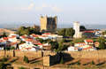 Portuguese historical fortress of Braganca Stock Photo