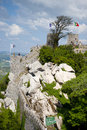 Portuguese medieval castle wall. Royalty Free Stock Photo
