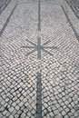 Portuguese pavement calcada portuguesa detail of the Stock Photos