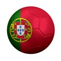 Portuguese soccer ball d rendering of wrapped in portugal s national flag portugal is a powerhouse in european and international Stock Photo