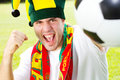 Portuguese soccer fan Stock Images