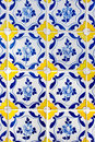 Portuguese tiles azulejos traditional in porto Royalty Free Stock Photography