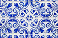 Portuguese tiles azulejos traditional in porto Royalty Free Stock Photo