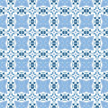 Portuguese tiles seamless pattern illustration in blue like Stock Photos