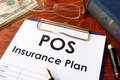 POS Insurance Plan on a table. Royalty Free Stock Photo