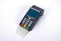POS Payment GPRS Terminal with Credit Card Royalty Free Stock Photo