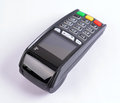 Pos payment gprs terminal isolated on white Royalty Free Stock Photography