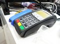 Pos terminal on the table close up old shot Royalty Free Stock Photo