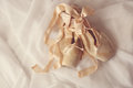 Posed pointe shoes in natural light romantic Stock Photos