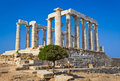 Poseidon Temple near Athens, Greece Royalty Free Stock Photography