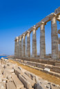 Poseidon Temple near Athens, Greece Royalty Free Stock Images
