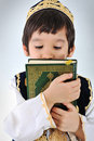 Posetive kid muslim Stock Photo