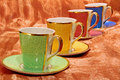 Posh china coffee cups Royalty Free Stock Photography