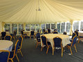 Posh wedding marquee reception tent Royalty Free Stock Photo