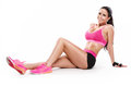 Posing beautiful fitness woman