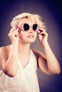 Posing with sunglasses Royalty Free Stock Photo