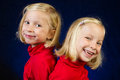 Posing twins Stock Images