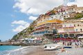 Positano amalfi coast italy june is a village and a comune on the costiera amalfitana in campania mainly in a Stock Photography