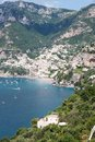 Positano amalfi coast italy panoramic view of in the Stock Photos