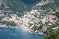 Positano amalfi coast italy panoramic view of in the Stock Photography