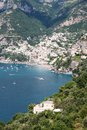 Positano amalfi coast italy panoramic view of in the Royalty Free Stock Photography