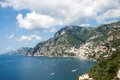 Positano amalfi coast italy panoramic view of in the Stock Image
