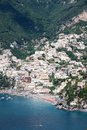 Positano amalfi coast italy panoramic view of in the Royalty Free Stock Images