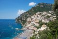 Positano amalfi coast italy panoramic view of in the Stock Photo