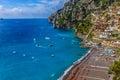 Positano beach beautiful seascape Italy Royalty Free Stock Photo