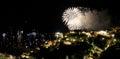 Positano fireworks Royalty Free Stock Photo