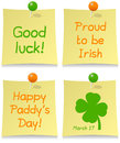 Positionnement de post-it de jour de St Patrick s Image libre de droits